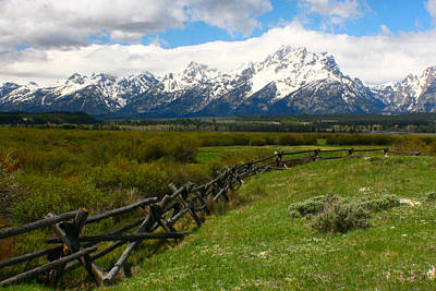 Photograph - Teton Fence by Jon Emery