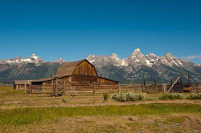 Photograph - Teton Homestead by Keith Swango
