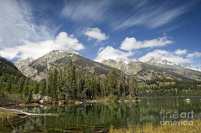 Wild And Wacky Portraits - Teton lake-Landscapes-2 by Wildlife Fine Art