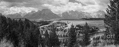Teton Mountain Range Panorama Art Print by Vishwanath Bhat