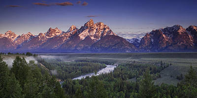 Clearing Photograph - Teton Panorama by Andrew Soundarajan