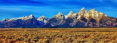 Art Print featuring the photograph Teton Panorama by Benjamin Yeager