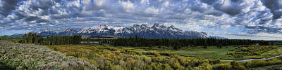 Photograph - Teton Panorama by David Armstrong