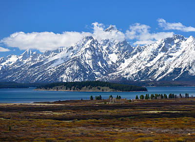 Photograph - Teton Panorama I Left Panel by Greg Norrell