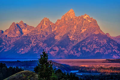 Photograph - Teton Peaks by Greg Norrell