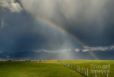 Photograph - Teton Rainbow by Idaho Scenic Images Linda Lantzy
