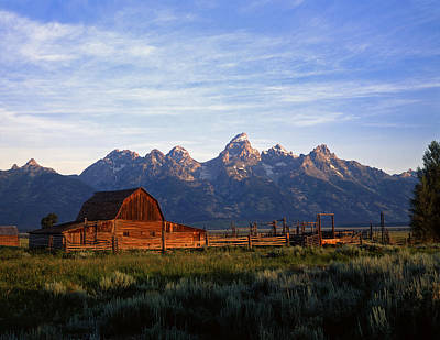Teton Ranch Autumn Art Print by Mike Norton