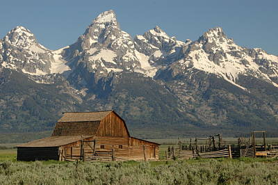 Photograph - Teton Ranch by Paul Miller