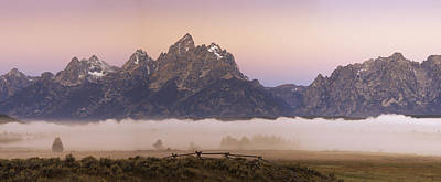 Photograph - Teton Range Dawn by Joseph Rossbach