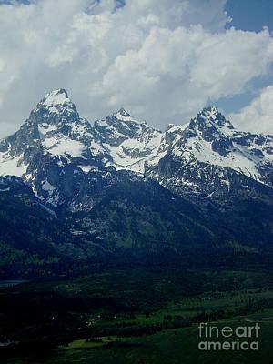 Photograph - Teton Range by E B Schmidt