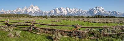 Photograph - Teton Range Panorama by Aaron Spong