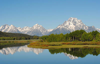 Photograph - Teton Range Reflections by Robert  Moss