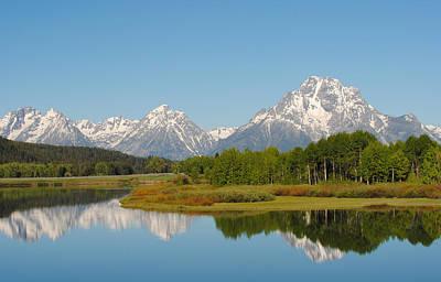 Photograph - Teton Range Reflections by Robert  Moss