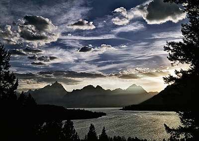 Teton Photograph - Teton Range Sunset by Leland D Howard