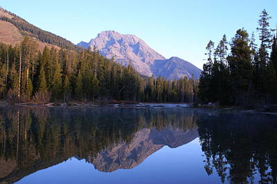 Teton Reflecions Art Print by Jerry Cahill