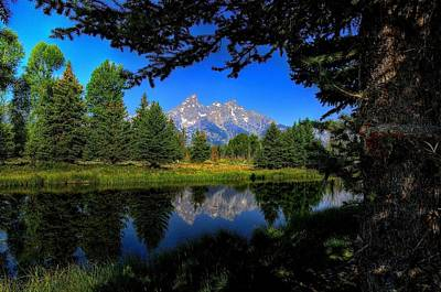 Art Print featuring the photograph Teton Reflection by Yeates Photography