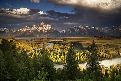 Teton Photograph - Teton Shadow Play by Andrew Soundarajan