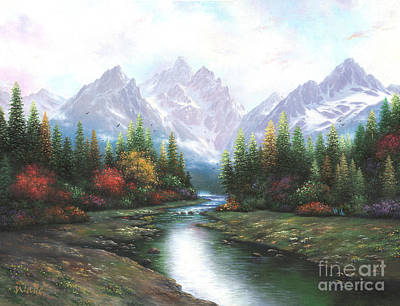 Teton Painting - Teton Splendor by Vickie Wade