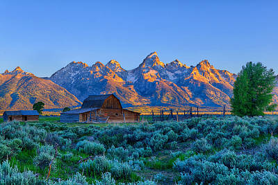 Photograph - Teton Sunrise Along Mormon Row by Greg Norrell