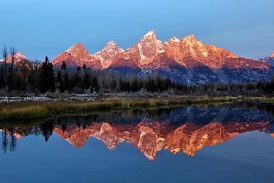 Photograph - Teton Sunrise by Benjamin Yeager