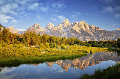 Santas Reindeers Royalty Free Images - Teton Sunrise Royalty-Free Image by Rob Hemphill