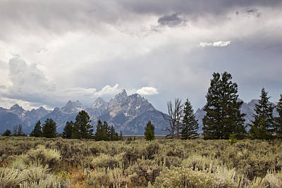 Teton Thunder - Grand Teton National Park - Wyoming Original by Diane Mintle