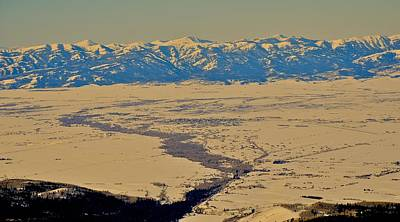 Photograph - Teton Valley In Winter by Eric Tressler