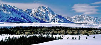 Teton Valley Winter Grand Teton National Park Art Print by Ed  Riche