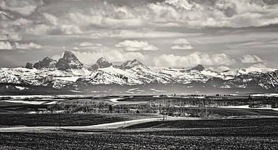 Photograph - Teton Vista Black And White by Heather Applegate