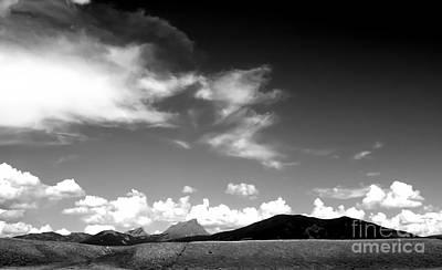 Photograph - Tetons B W by A K Dayton