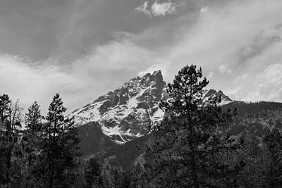 Photograph - Tetons Black And White by Robert  Moss