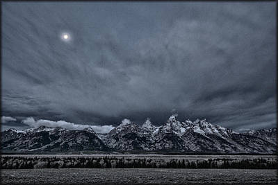 Photograph - Tetons By Moonlight by Erika Fawcett