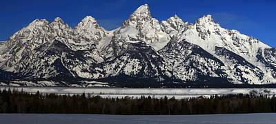 Tetons From Glacier View Overlook Art Print
