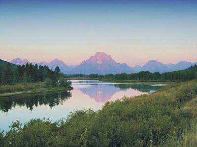 Photograph - Tetons From Oxbow Bend by Joe Duket