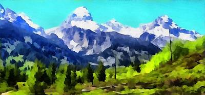Painting - Tetons From Taggart Lake by Dan Sproul