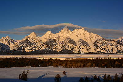 Photograph - Tetons In The Winter by Raymond Salani III