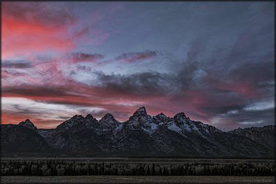 Photograph - Tetons On Fire by Erika Fawcett