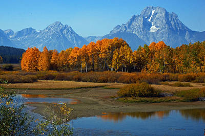 Photograph - Tetons Reflection by Dorothy Cunningham