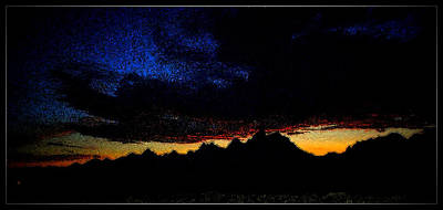 Photograph - Tetons Sunset Silhouette  by Kathy Sampson