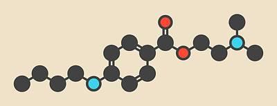 Ophthalmology Photograph - Tetracaine Local Anesthetic Drug Molecule by Molekuul