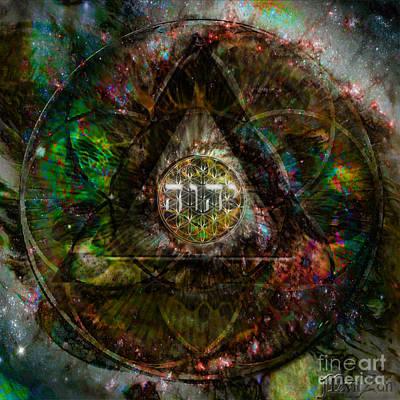 Pleiades Digital Art - Tetragrammaton by Mynzah Osiris