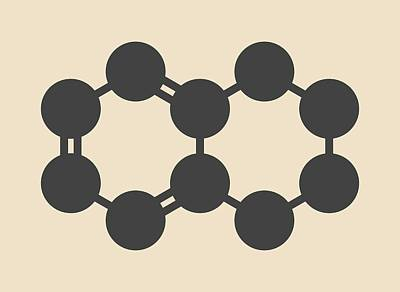 Tetralin Solvent Molecule Art Print by Molekuul