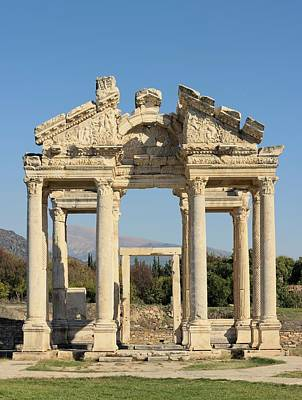 Boar Photograph - Tetrapylon At Aphrodisias by David Parker