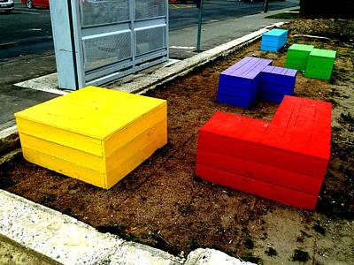 Tetris Block Photograph - Tetris 2013 by Steve Taylor