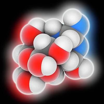 Tetrodotoxin Neurotoxin Molecule Art Print by Laguna Design