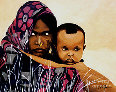 Tevet Mother And Child Original by Joel Thompson