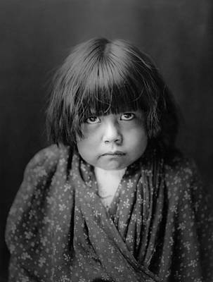 1905 Photograph - Tewa Indian Child Circa 1905 by Aged Pixel