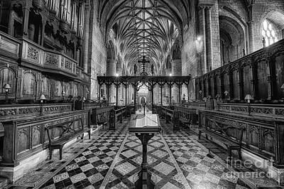 Tewkesbury Abbey Bw Art Print