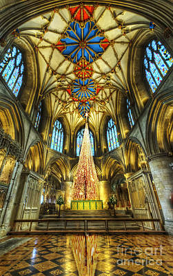 Photograph - Tewkesbury At Christmas by Darren Wilkes