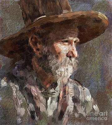 Digital Art - Tex by Jack Milchanowski